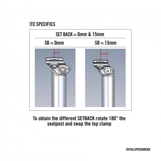 FSA SL-K ITC SB0/15 0 v. 15 mm hátranyúlású karbon nyeregcső, nyeregszár