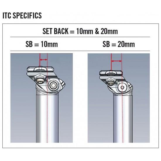 FSA SL-K ITC SB20/10 10 v. 20 mm hátranyúlású karbon nyeregcső, nyeregszár