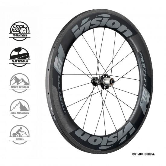 Vision Metron 81 SL felni fékes országúti karbon kerék, kerékszett (szingós)