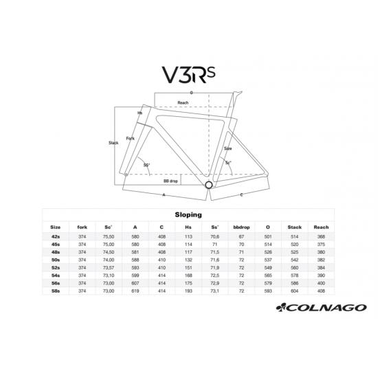 Colnago V3RS vázszett, tárcsafékes